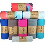 Hot Yoga Towel - Beautiful, Non Slip, Skidless, Ultra Absorbent, Lightweight, Microfiber Towel Sized for Yoga Mats