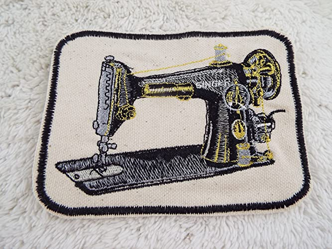 Amazon Singer Vintage Sewing Machine Embroidered Ironon Patch Magnificent Sewing Machine For Patches