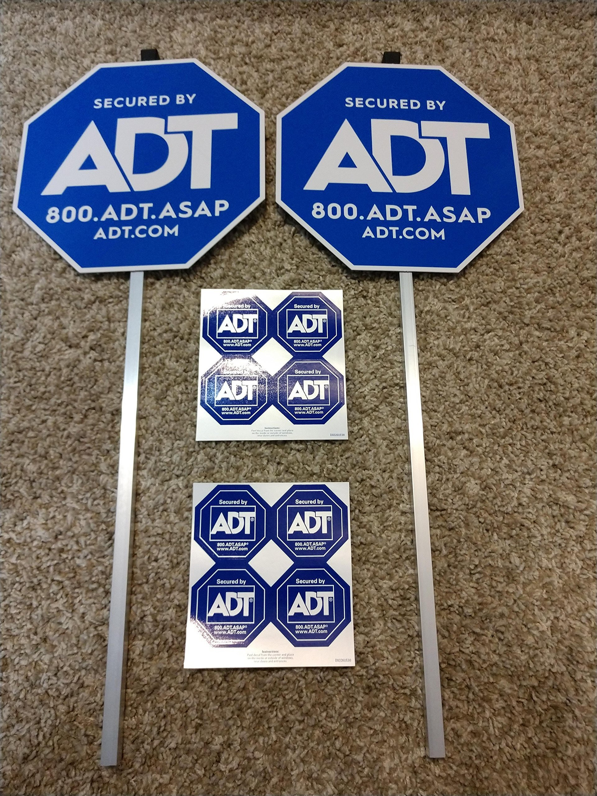 ADT Home Security yard signs and stickers 2 New