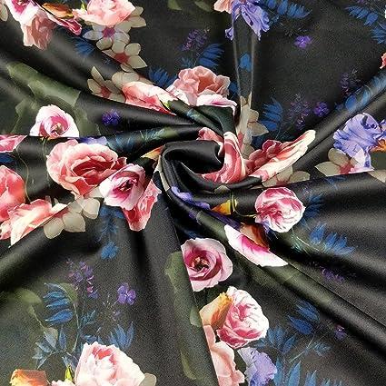 FS193 Vintage morado rosa Rose Floral Impresión Alta Calidad De Buceo Tela – se vende por