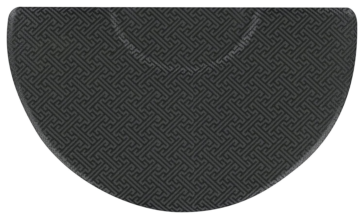Andersen 591013459 Salon Dcor 591 Anti-Fatigue Mat in Greek Key Design, 34 x 59, 3/4 Thickness, Black/Grey Color Scheme by Andersen B01D65I5GQ