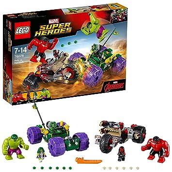 LEGO 76078 Marvel Super Heroes Hulk Vs Red Hulk Superhero Toy: LEGO ...