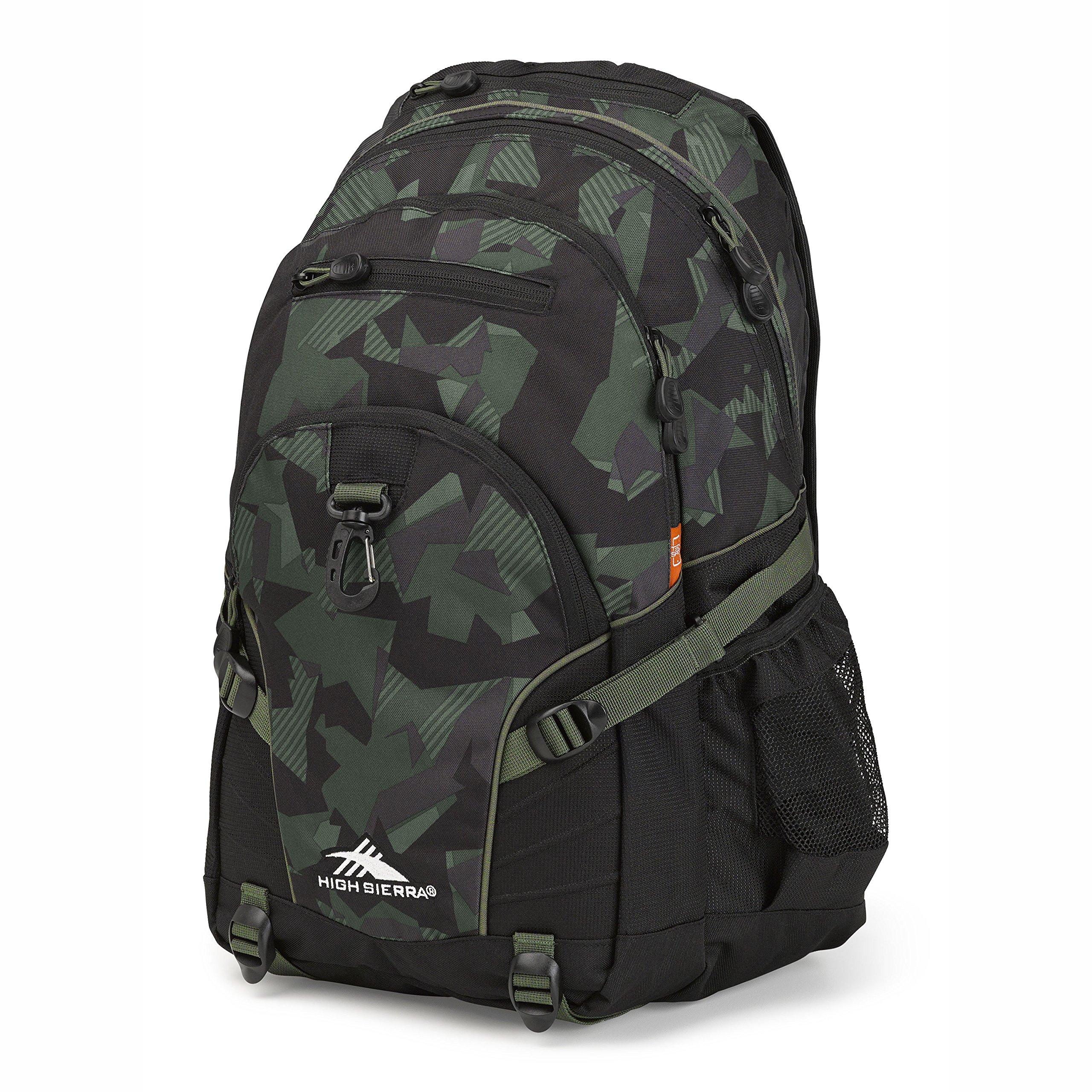 High Sierra Loop Backpack, Shattered Camo/Black/Olive