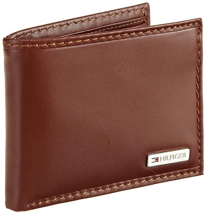 Tommy Hilfiger hombres de Multi tarjeta Passcase, marrón ...