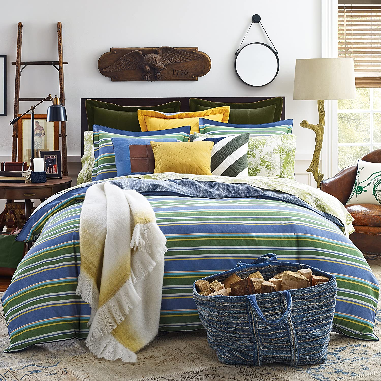 Tommy Hilfiger green bedding sets