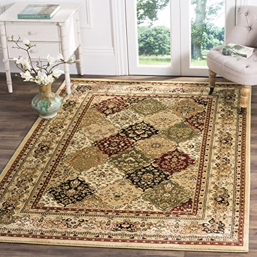 Safavieh Lyndhurst Collection LNH221G Traditional Grey and Multi Runner 6 x 9