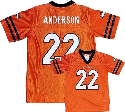 CJ Anderson Denver Broncos Orange Home Player Jersey Youth