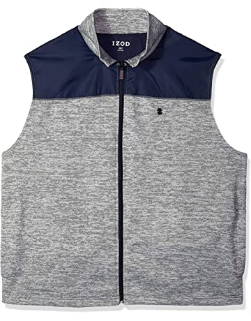 43364a049e IZOD Men s Big and Tall Advantage Performance Spectator Colorblock Fleece  Vest
