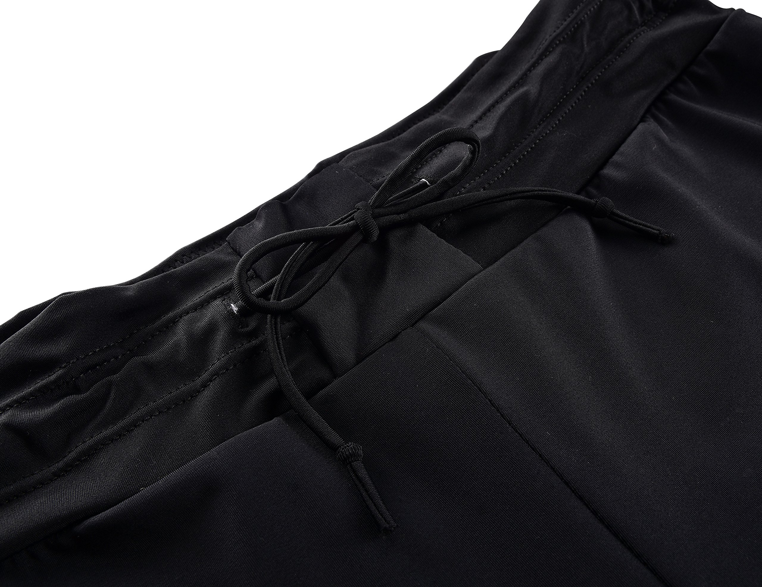 Septangle Womens Black Swim Sports Board Shorts Bottom with Side Ties,US 14 by Septangle (Image #5)