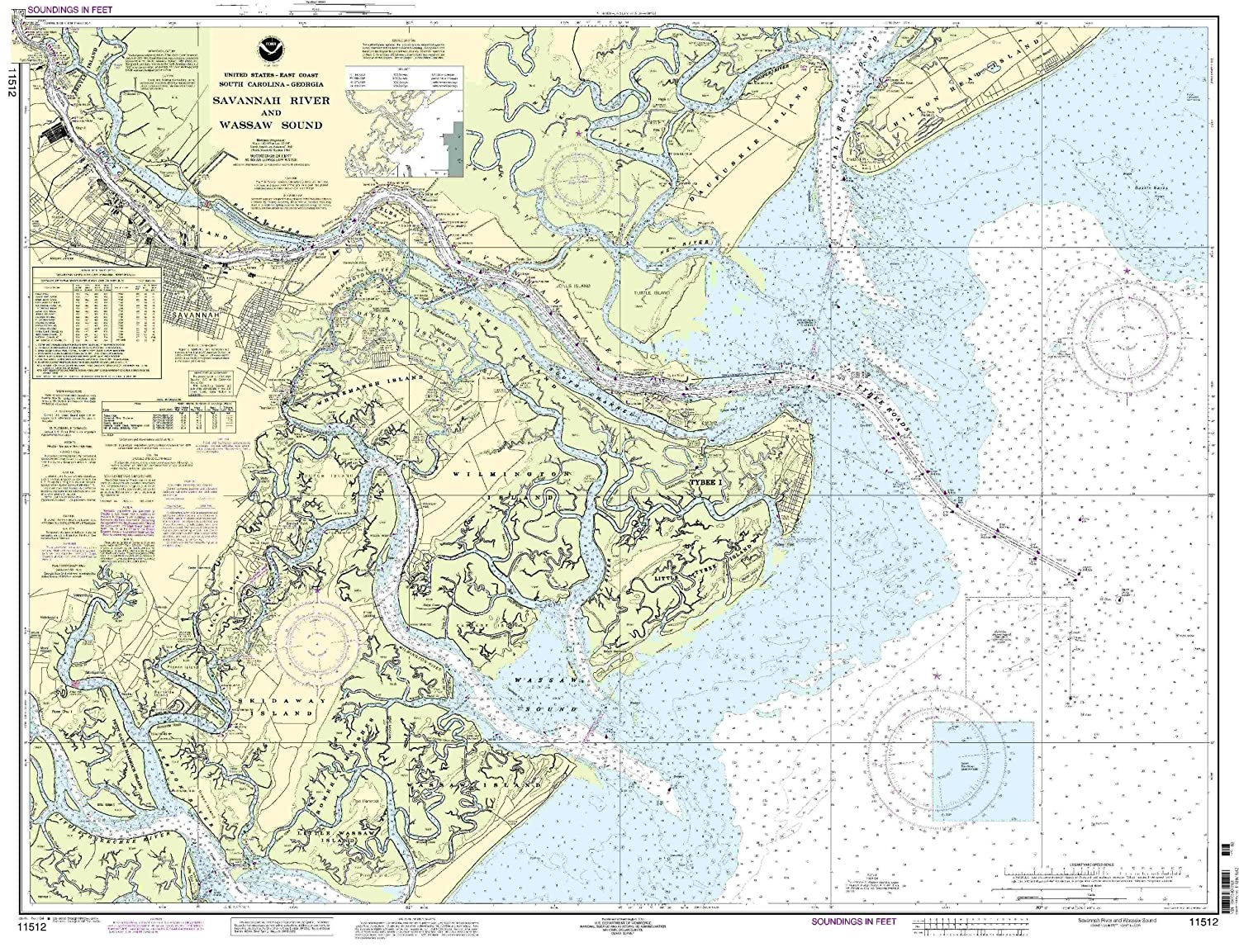 Amazoncom Savannah River And Wassaw Sound Fishing - Us map savannah georgia