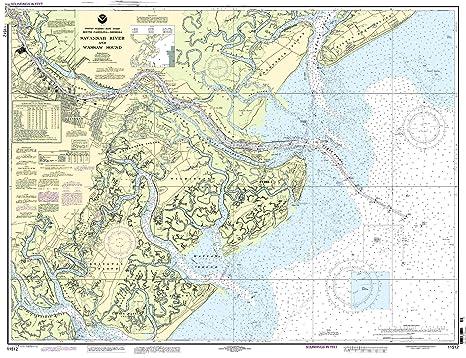Amazoncom 11512 Savannah River And Wassaw Sound Fishing Charts - Savannah-on-us-map