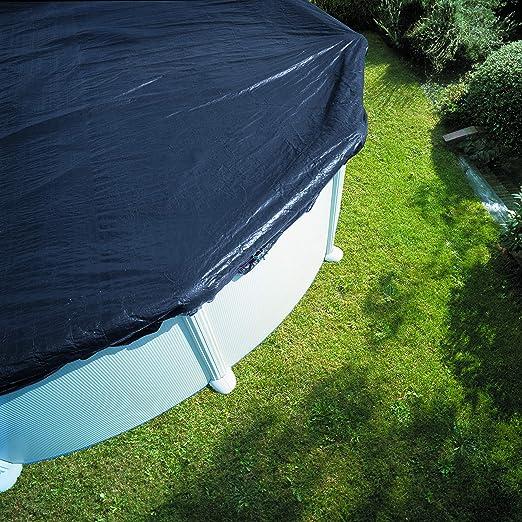 Gre CIPR451 - Cobertor de Invierno para Piscina Redonda de 460 cm de Diámetro, Color Negro: Amazon.es: Jardín