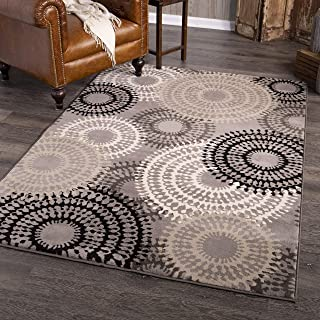 product image for Orian Wagon Wheel Area Rug, 5' x 7', Taupe
