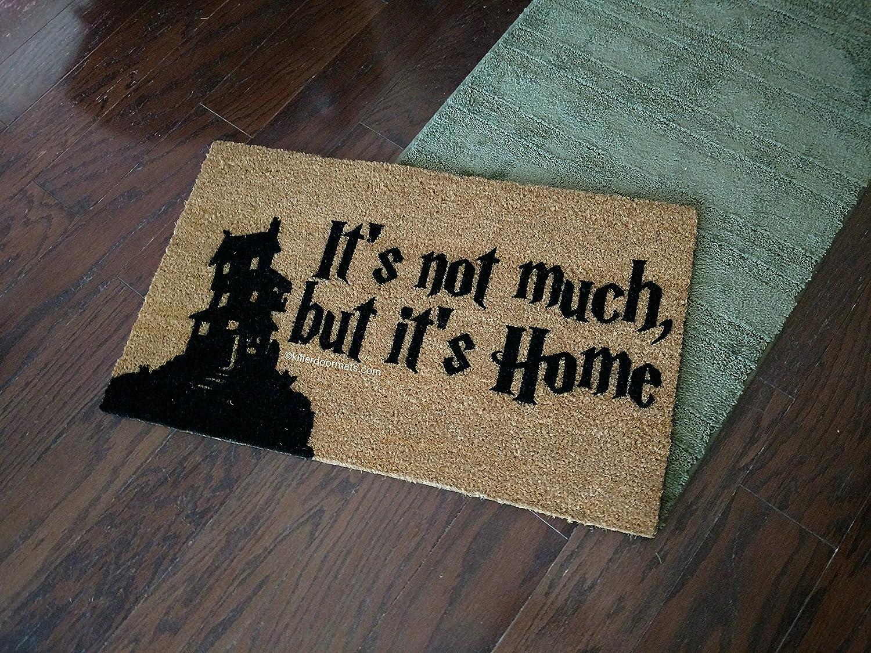 Size Small Custom Hand Painted Doormat by Killer Doormats Its Not Much Welcome Mat But Its Home Burrow House Silhouette Fandom Doormat Doormat
