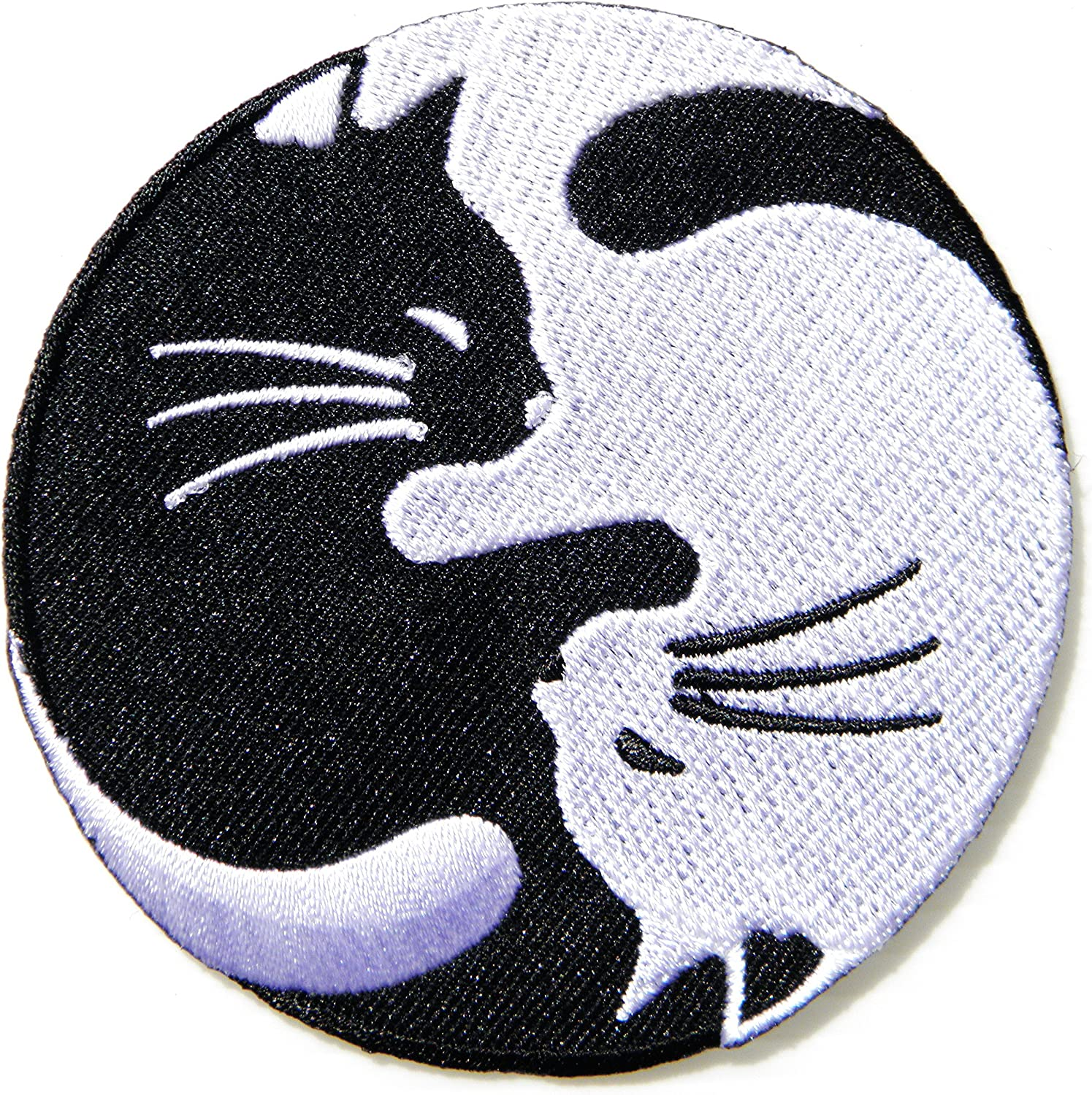 Sew On Patch Symbol Sign Logo Clothes Bag Badge Yin and Yang Embroidered Iron