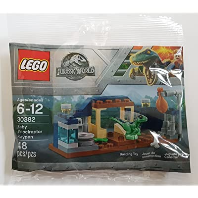 LEGO Jurassic World Baby Velociraptor Playpen (30382) Bagged: Toys & Games