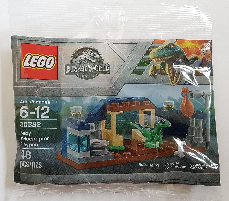 LEGO PROMO POLYBAG # 30382 JURASSIC Park WORLD Baby VELOCIRAPTOR Raptor PLAYPEN