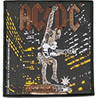 AC/DC parche – Stiff Upper Lip – AC/DC Patch – tejida & licencia oficial..