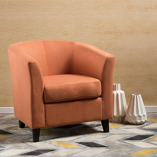 Christopher Knight Home Preston Fabric Club Chair, Orange