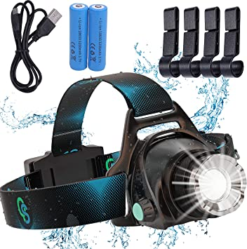 4x 85000Lm Motion Sensor LED Headlamp Rechargeable Headlight Head Lamp Torch QY