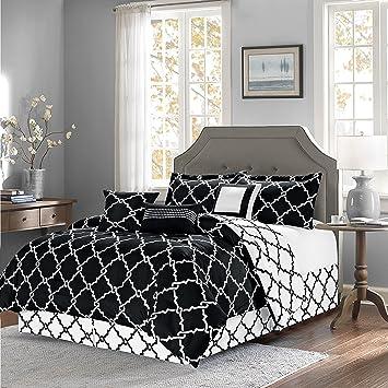 overstock comforter sets king Amazon.com: Empire Home Oversized Reversible 7 Piece Geometric  overstock comforter sets king