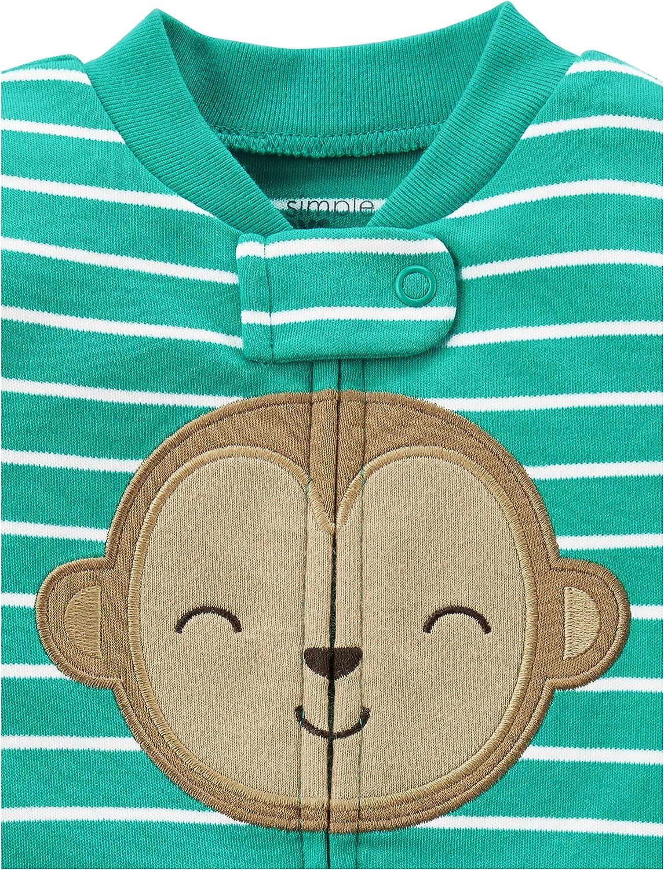 2er-Pack und Spielanzug aus Baumwolle mit F/ü/ßen Simple Joys by Carters Baby Jungen Schlaf