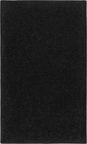 Nance Industries OurSpace Bright Area Rug, 8-Feet by 10-Feet, Charcoal Black