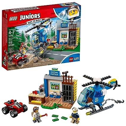 Amazoncom Lego Juniors4 Mountain Police Chase 10751 Building Kit