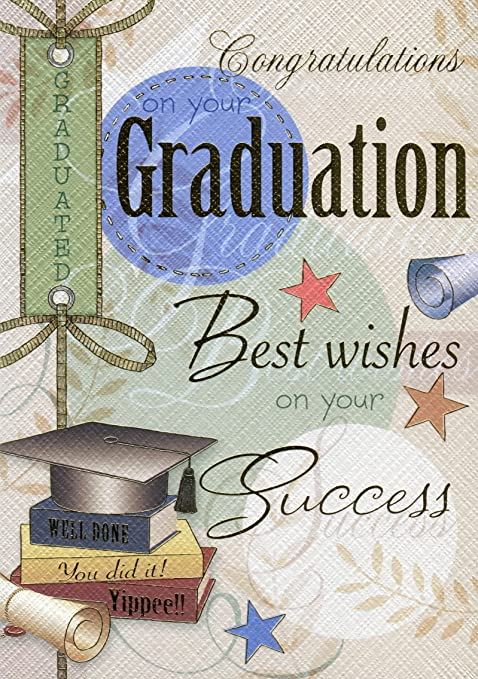 Congratulations On Your Graduation Graduation Card Amazon Co Uk