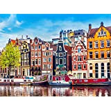 1000 Piece Large Jigsaw Puzzle - Amsterdam, Netherlands - Puzzles for Adults and Teens - 27 x 20 Inches