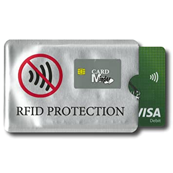 Card Minder Rfid Blocking Anti Theft Secure Protector For Credit