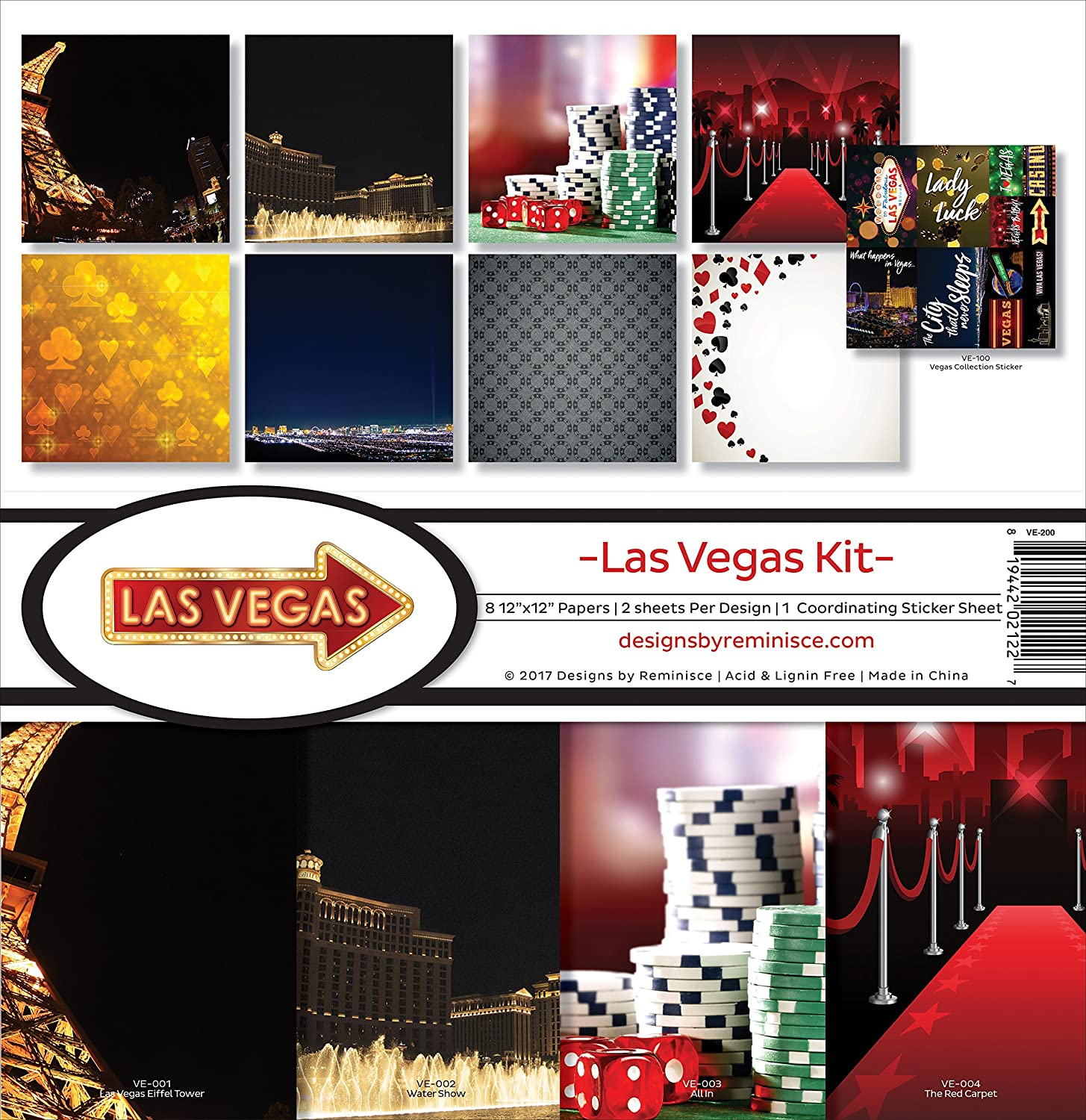 Reminisce VE-200 Vegas Scrapbook Collection Kit