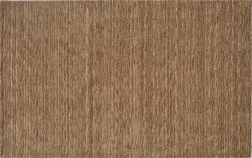 Super Area Rugs Beige Rug Striped Solid Design 5 X 7 6 Wool Solid Carpet