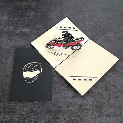 Frohe Weihnachten Motorrad.Motorrad Biker 3d Pop Up Grusskarte Handgefertigt Happy Birthday Hochzeitstag Freundschaft Frohe Weihnachten Thanksgiving Thank You Best Wish Viel