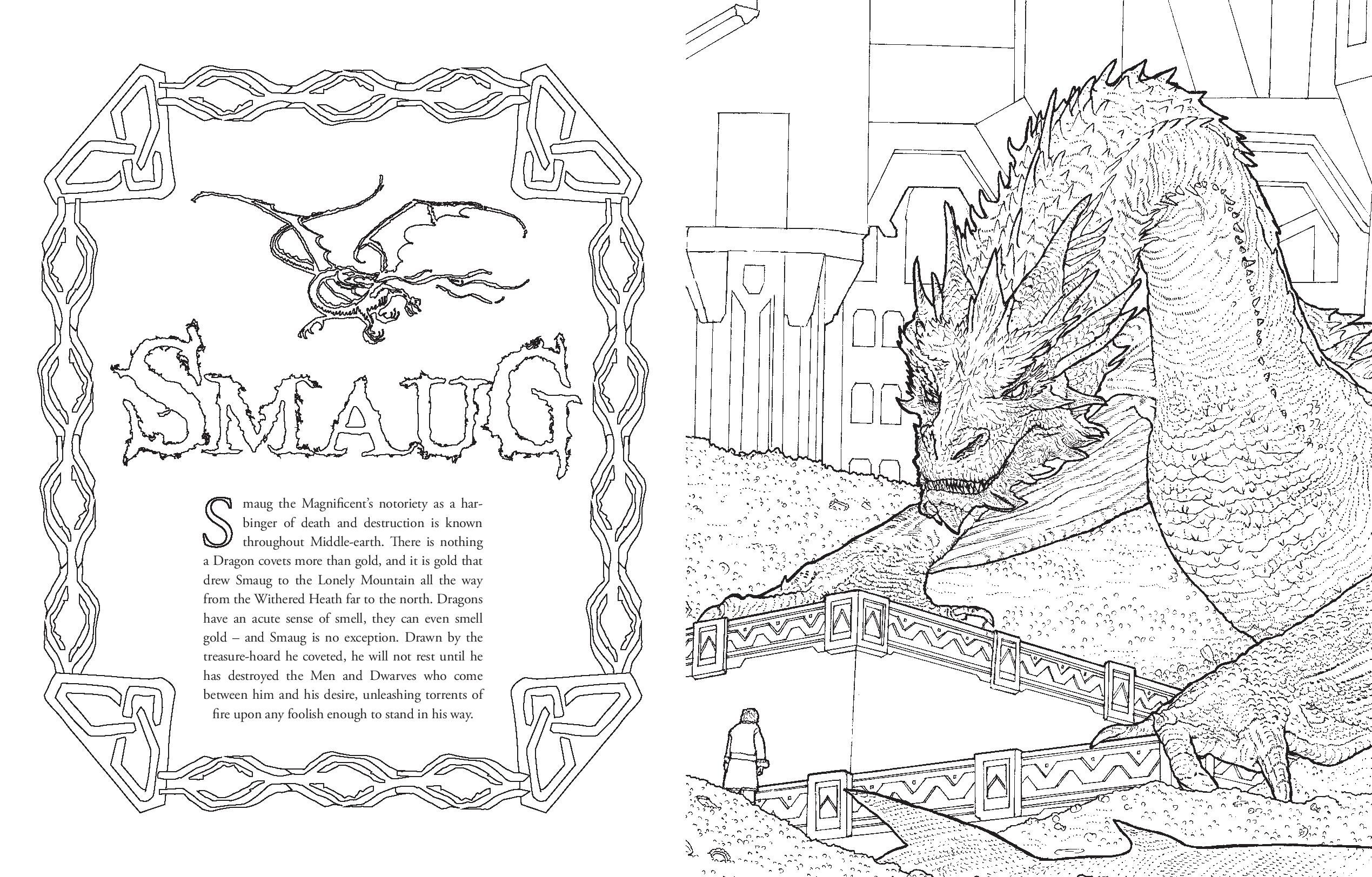 The Hobbit Movie Trilogy Colouring Book Colouring Books Amazon De