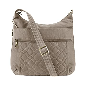 9fd62170a1 Amazon.com: Travelon Women's Anti-Theft Signature Quilted Expansion  Crossbody Cross Body Bag Sable One Size