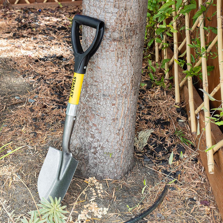 Stanley Garden BDS7148T Mini D-Handle Round Point Shovel, Yellow : Garden & Outdoor