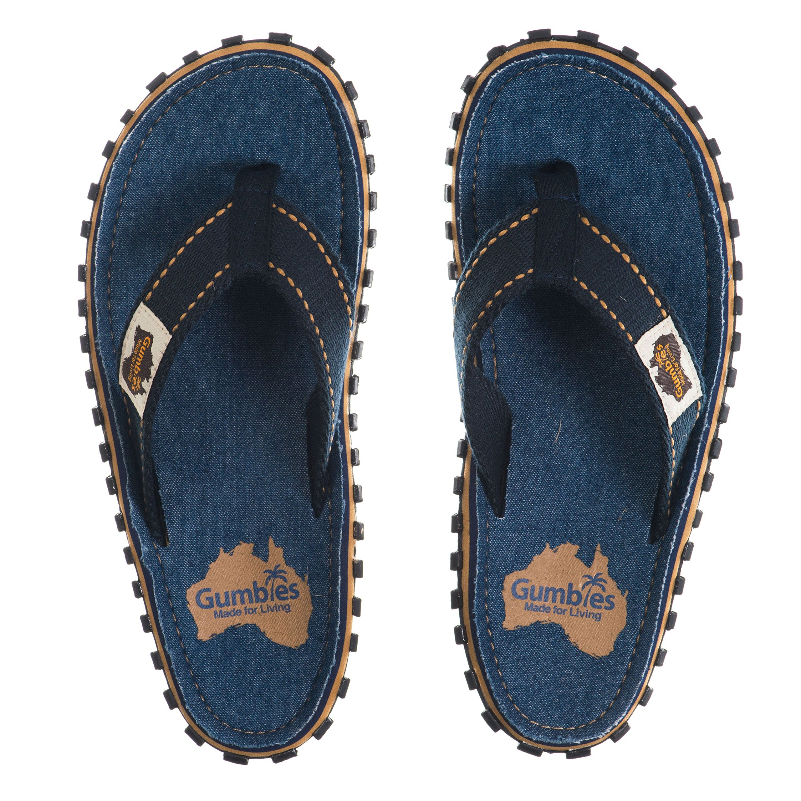 Gumbies Islander Canvas Flip-Flops - Unisex - Dark Denim