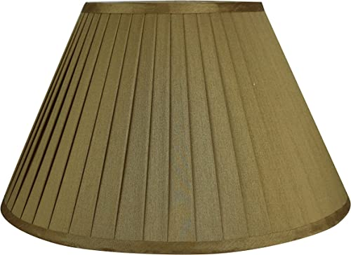 Urbanest Softback Side Pleat Lampshade, Faux Silk, 8-inch by 16-inch by 10-inch, Gold, Spider Washer Fitter