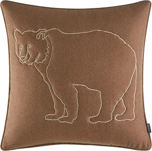 Eddie Bauer Bear Lines Throw Pillow, 20 x 20, Brown