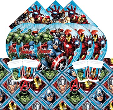 Marvel Vajilla, color azul, Party Tableware 16-pack (Procos 15443): Amazon.es: Juguetes y juegos