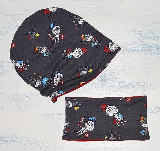 Set di cappello hipster unisex reversibile e Sciarpa per neonato e bambino cbf510db25b2