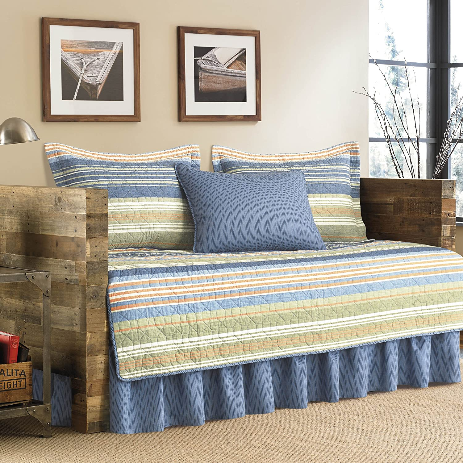 Eddie Bauer 206702 5-Piece Quilted Daybed Set, Twin, Camino Island Revman International