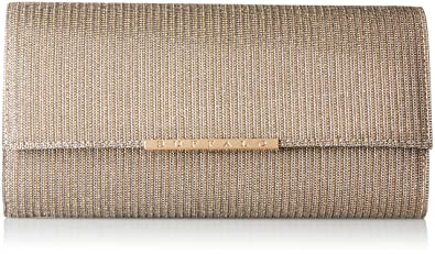 Damen Bag Bwg-05 Glitter Clutch, Schwarz (Black 01), 4x13x25 cm Buffalo