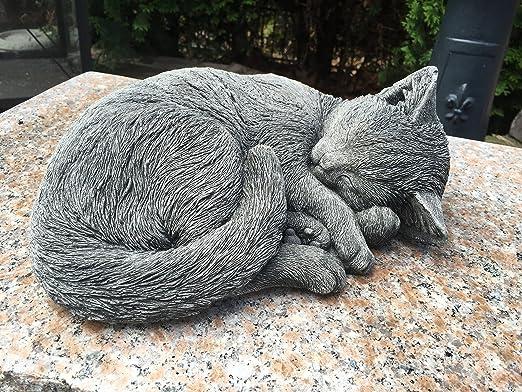 piedra Figura Figura decorativa para jardín gato resaca durmiendo ...