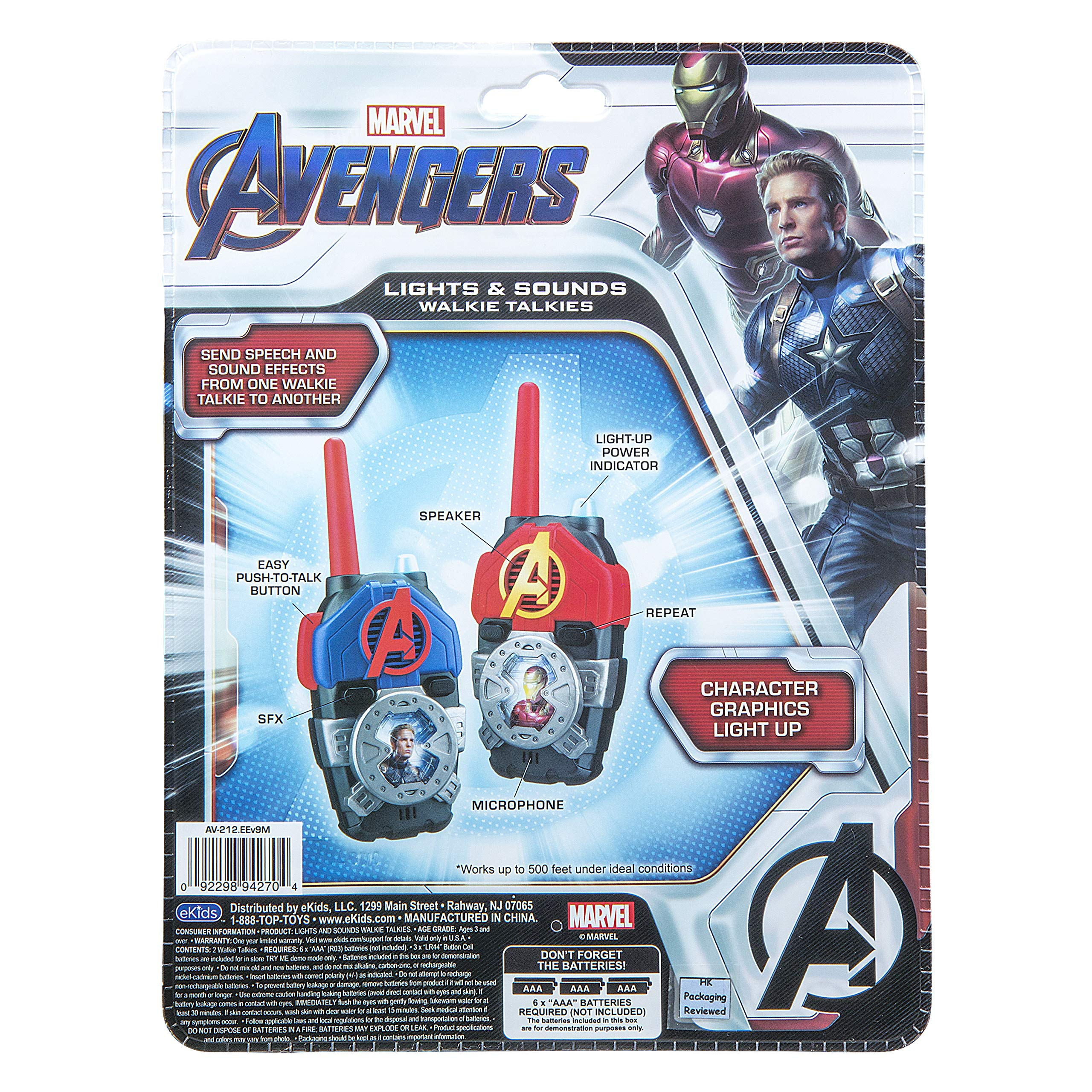 eKids Avengers Endgame FRS Walkie Talkies with Lights & Sounds Kid Friendly Easy to Use by eKids (Image #6)