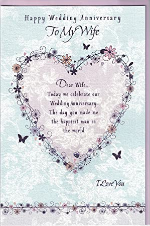 Wife anniversary card happy anniversary to my wife purple heart wife anniversary card happy anniversary to my wife purple heart butterflies m4hsunfo
