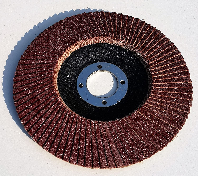 Dischi lamellari standard diametro: 115/mm x 22,23/mm 5 pezzi per ciascuna grana 20/pezzi confezione a grane miste da 40//60//80//120 colore: marrone.