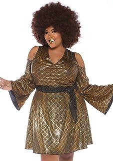 e7e590f2b3b2f Amazon.com  Leg Avenue Women s Plus Size Disco Doll 70s Costume ...
