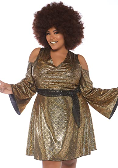60s 70s Plus Size Dresses, Clothing, Costumes Leg Avenue Womens Plus Size Disco Costume $39.99 AT vintagedancer.com
